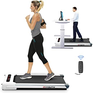 Grneric Goyouth 2 in 1 Under Desk Electric Treadmill Motorized Exercise Machine with Wireless Speaker, Remote Control and LED Display, Walking Jogging Machine for Home/Office Use