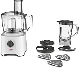 Moulinex Food Processor, Easy Force 800 Watts, 6 Attachments, +25 different functions, 1.8 Liter and 2.4Liter Bowl capacit...