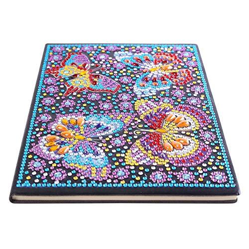 Everpert DIY 5D Diamant Malerei Notebook, DIY Schmetterling Special Shaped Diamond Painting 50 Seiten A5 Sketchbook Crafts