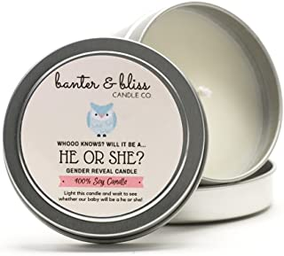 Banter & Bliss™ Gender Reveal Color Changing Candle - It's a Girl!
