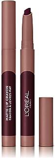 LOreal Paris Make-up Designer - Pintalabios Matte Crayón 116 Cherryfic permanente burdeos - 22 ml