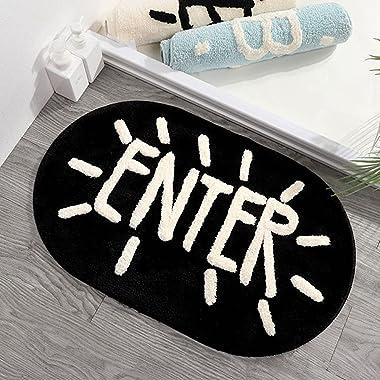 TOYANDONA Door Entrance Door Mat Absorbent Ground Mat Non Slip Doormat Kitchen Floor Rug Front Door Carpet for Bedroom Bathro