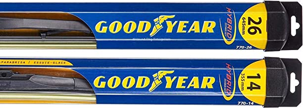 Hybrid - Windshield Wiper Blade Bundle - 3 Items: Driver & Passenger Blades & Reminder Sticker fits 2012 Nissan Versa (Hatchback)