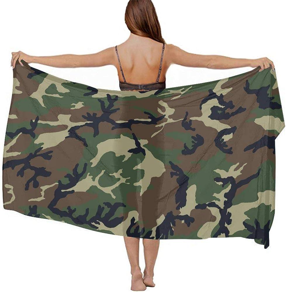 NiYoung Women Luxury Chiffon Swimwear Cover Up, Oversize Beach Sarong Shawl Wrap