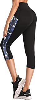 Yoga Pants, Womens Leggings High Waist Tummy Control Workout Running Pants with Pockets