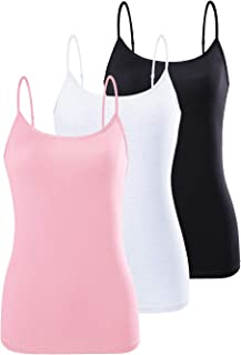 AMVELOP Adjustable Camisole for Women Spaghetti Strap Tank Top Super Soft Camisoles