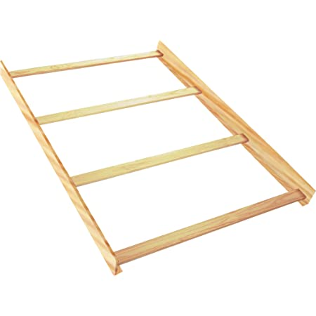 Full Size Conversion Kit Bed Rails for Bertini Baby Cribs Natural Rustic