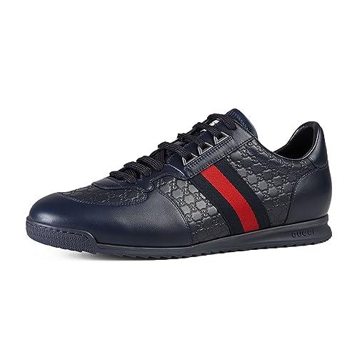 dea098a9023 Gucci Men s  SL 73  Guccissima Leather Web Detail Sneaker