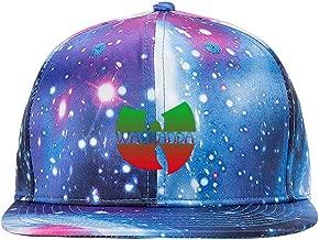 ETJIJCKDI Wu-Kanda Purple Galaxy Snapback Hat Unisex Trucker Hat Hip Hop Plaid Flat Adjustable Baseball Cap