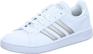 adidas Grand Court Base, Scarpe da Tennis Donna, Ftwr White/Platin Met./Ftwr White, 44 EU