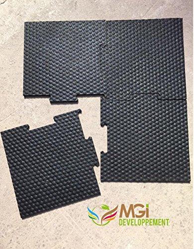 Nouvelle Technologie vulcanisée: Dalle caoutchouc anti-vibration & anti-bruit pour machine à laver - 60x60x1cm