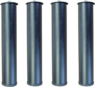 IMEX EL ZORRO Juego 4 Patas canapé, Metal, Neutro, 39x5x3 cm