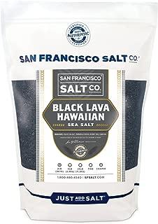 Black Lava Hawaiian Sea Salt - 2 lb. Bag Coarse Grain by San Francisco Salt Company