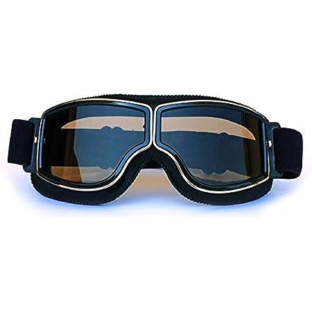Easy Topbuy Skibrillen Brillenträger Verspiegelt Motorrad Goggle Off Road Schutzbrille Winterbrille Brille Vintage Helmbrille Motocrossbrille Vintage Brille Reitbrille Sport Freizeit