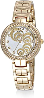 Zyros Watch for Women, Analog, Metal Band, Gold, ZY140L010129W