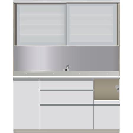 パモウナ 食器棚VI パールホワイト 幅160×高さ198×奥行50 日本製 VIR-1600R