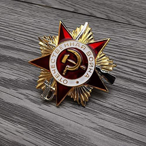 YUNjun Unión Soviética Nivel 1 Medalla de Guerra PatrióticaEstrella Roja Emblema Militar Logros Gloriosos Insignia de Honor de la URSS