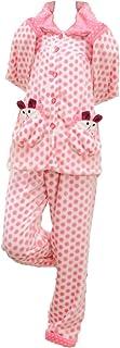 【ぴゅありぼん】大きいサイズ 4XL かわいい 水玉 フランネル パジャマセット ドット柄 ルームウェア セット TOKYO GOODS MARKET