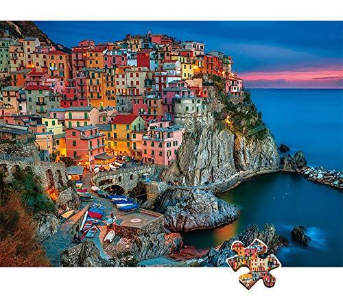 Puzzle clásico de 1000 piezas Italy Cinque Terre, puzle para adultos y niños, colorido puzle para adultos y niños a partir de 8 años, juego de habilidad para toda la familia.