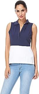 NAUTICA Fashion Vests For Women, White & Navy S