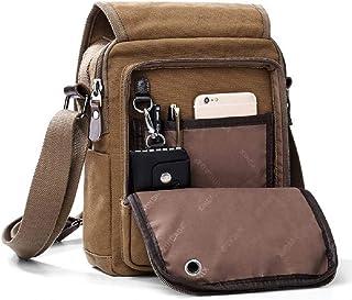 Canvas Small Shoulder Messenger Bag Travel Purse Bag Casual Simple Crossbody Bag Women Men