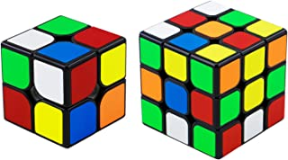 QiYi Magic Cube [2020最新] 魔方 3x3 競技用 立体パズル ポップ防止 知育玩具【6面完成攻略書付き】スタンド付き (ステッカー 2個)