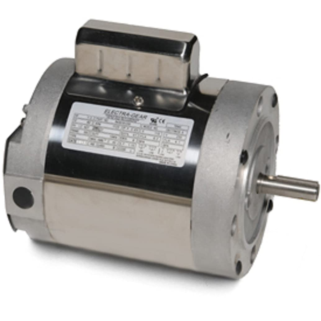 Leeson 6439191260 Boat Hoist Motor, 1 Phase, 56C Frame, C Face Mounting, 1/2HP, 1800 RPM, 115/208-230V Voltage, 60Hz Fequency