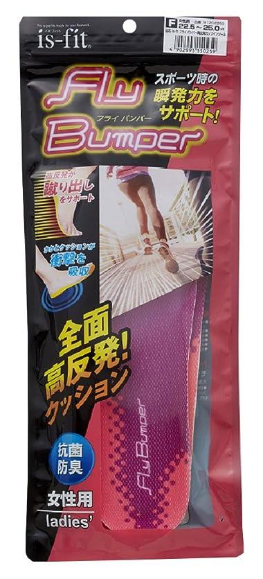 ずらすベルベットラッカスモリト is-fit(イズ?フィット) フライバンパー 高反発 カップインソール 女性用 フリーサイズ (22.5~25.0cm)