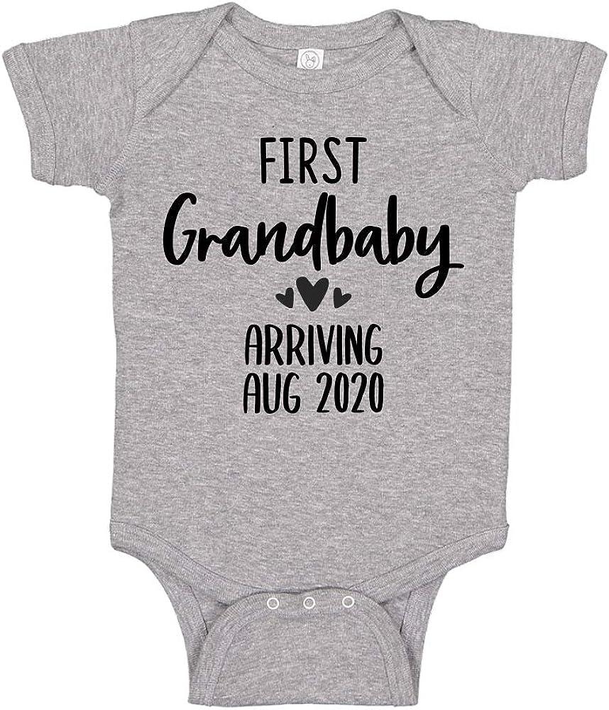 Pregnancy reveal baby grow bodysuit vest Hello Grandma new baby announcement
