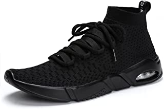 Mens Womens Walking Shoes Lightweight Breathable Running Shoes Fashion Sneakers (Flyknit/Camouflage)