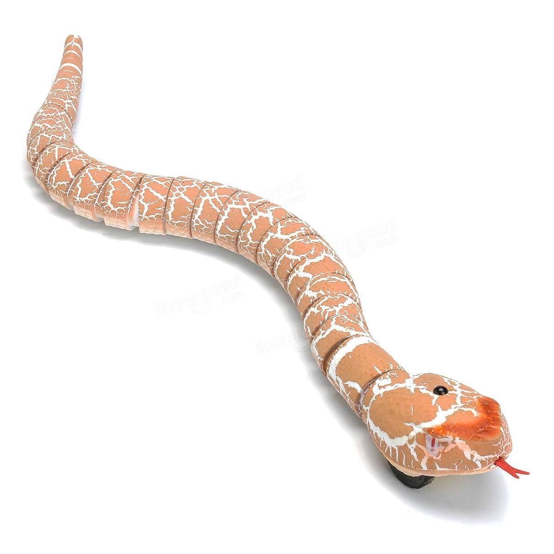 Remote Control Toy Snake - Snake Toy Control - Remote Control Infrared RC Black Rattlesnake Snake Fun Joke Gag Toy USB Charging - Orange (Rattlesnake Eggs Toy)