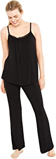 Bow Detail Maternity Sleep Pants- Black