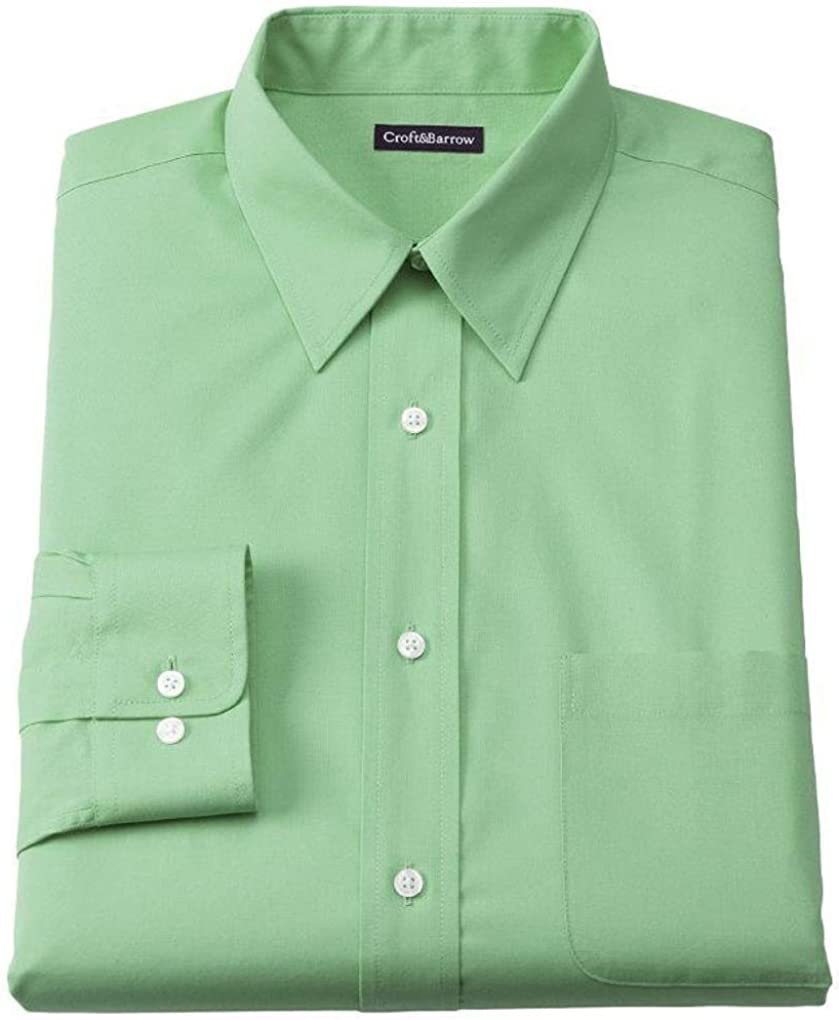 Croft & Barrow Classic Fit Point Collar Dress Shirt Green