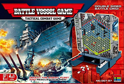 Coo11 Most Detailed Strategy Battleship Board Game for Families & Kids| Defeat the Enemy, Capture Treasure, Claim Their Fortress| Action Adventure for Boys, Girls, and Families.
