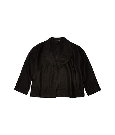 Eileen Fisher Petite Drape Front Jacket (Black) Women