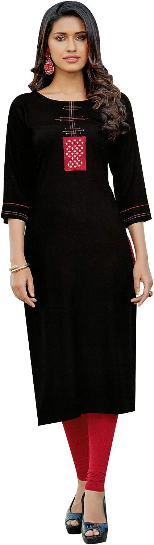 ladyline Casual Max 75% OFF Plain Rayon Max 80% OFF Embroidered Women Kurta Tu for Kurti