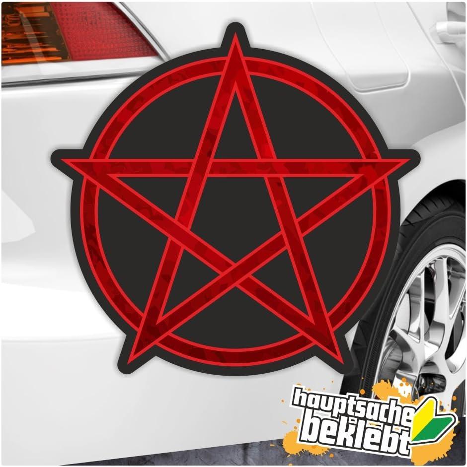 Kiwistar Pentagramm In 7 Größen Erhältlich Aufkleber Mehrfarbig Sticker Funsticker Colored Auto