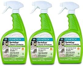 StoneTech Revitalizer, Cleaner & Protector for Tile & Stone, 24-Ounce (.710L) Spray Bottle, Citrus Scent, 3-Pack