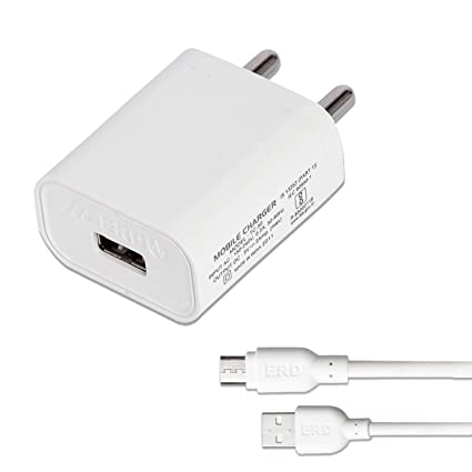 erd mobile fast charger 2.0amp with micro usb cable  White