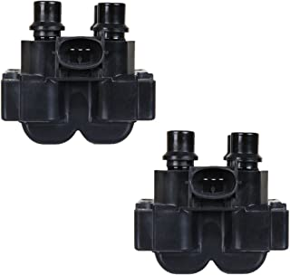 Pack of 2 Ignition Coils for 91-03 Ford - Contour E-150 Escort Explorer Mustang Ranger Mercury Lincoln Town Car Mark VIII Mazda 626 - C924 FD-487 FD487