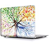 MacBook Air 13 Inch Case, iCasso Rubber Coated Hard Case Only Compatible Older MacBook Air 13 (Models: A1369 / A1466 , Older Version Release 2010-2017) , Four Seasons Tree