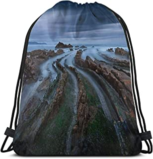 Addictive Curves Shoulder Drawstring Bag Backpack String Bags School Rucksack Gym Sport Bag Lightweight