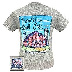 Girlie Girls Barn Hair Dont Care Preppy Short Sleeve T-Shirt
