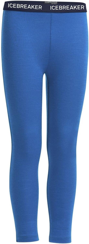 Icebreaker Merino Kids Oasis Leggings Align Print, Pelorus Admiral White, Size 1