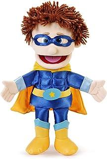 "14"" Superhero, Peach Boy, Hand Puppet"