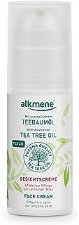 alkmene Teebaumöl Gesichtscreme bei unreiner Haut - vegane Gesichtspflege ohne Silikone, Parabene & Mineralöl - Porentiefe Reinigung fürs Gesicht - Creme 1x 50 ml