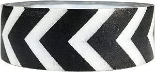 Wrapables Striped Japanese Washi Masking Tape, Black Arrow