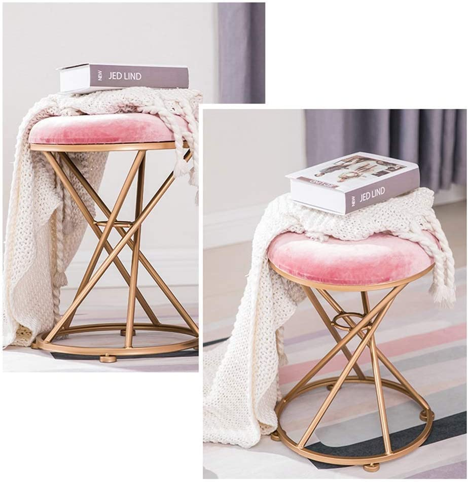 gzz Maquillage Tabouret Dressing Tabouret De Fer Art Métal Tabouret Style Européen Nordic Chaise Chambre Moderne,5 1