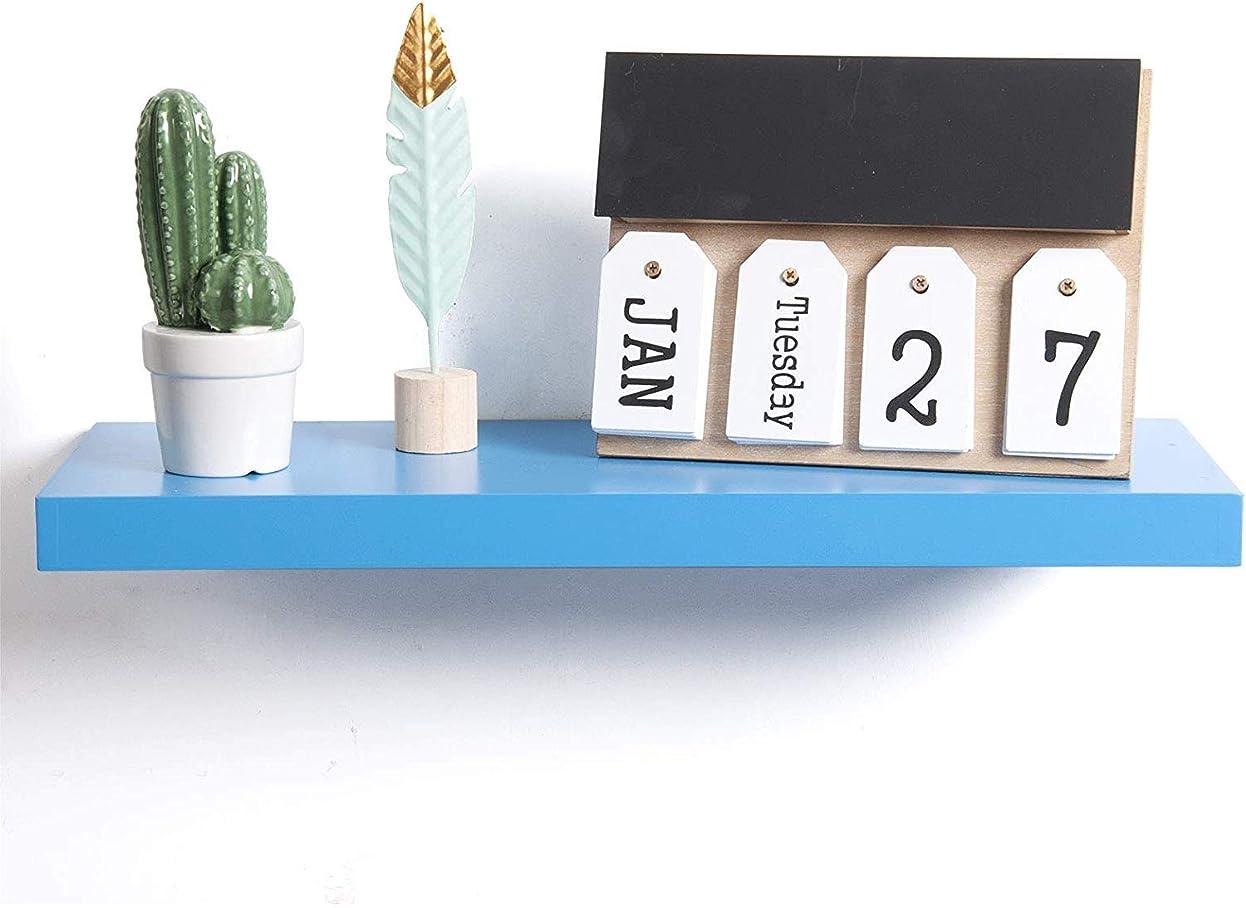 劇作家白鳥透けて見えるウォールシェルフブラケット棚CDラックDVDラック懸濁25センチメートルブラック木製テーブル,ブルー,30センチメートル