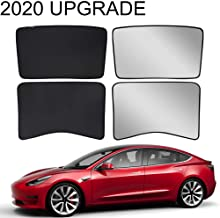 X AUTOHAUX 2 Pcs Glass Shade Cover Triangular Window Sun Shade Cover for Tesla Model 3